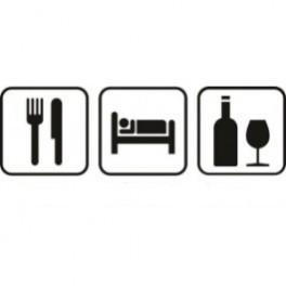 Autocolante - Comer Dormir Beber 2