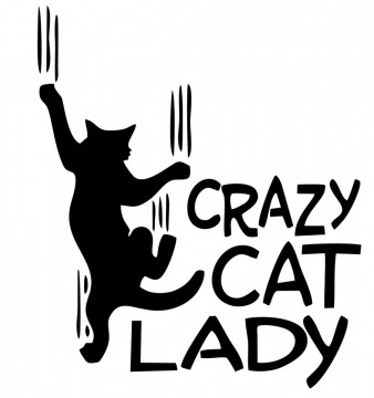 Autocolante  - crazy cat lady