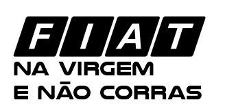 Autocolante - Fiat na virgem e não corras