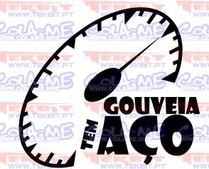 Autocolante - Gouveia tem aço