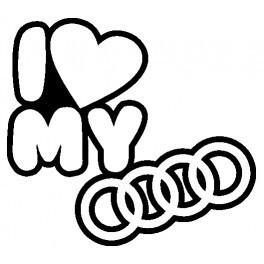 Autocolante - I Love my Audi