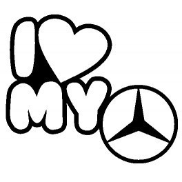 Autocolante - I Love My Mercedes