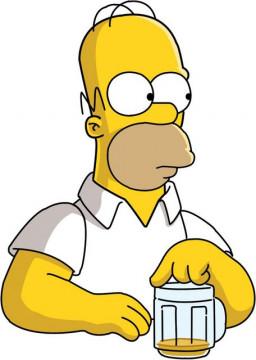 Autocolante Impresso - Homer Simpson