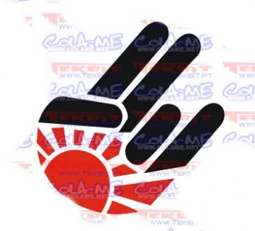 Autocolante Impresso - Mão japão