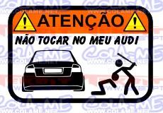 Autocolante Impresso - Não tocar no meu Audi A4 B6