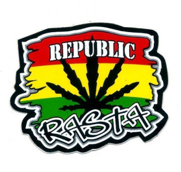 Autocolante Impresso - Republic Rasta