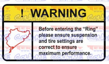 Autocolante Impresso - Warning - Ring