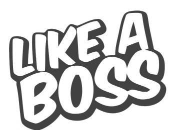 Autocolante - Like a boss