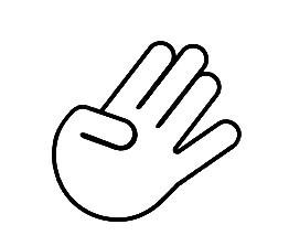 Autocolante - Mão