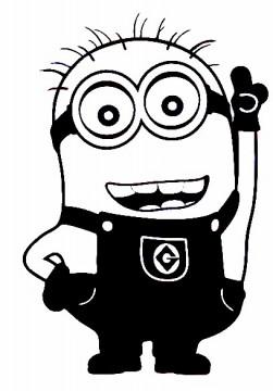 Autocolante - Minion Sorridente