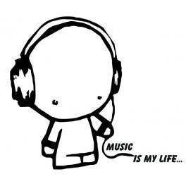 Autocolante - Music is My Life