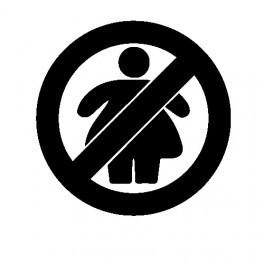 Autocolante - No Fat Chick