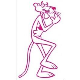 Autocolante - Pantera Cor-de-rosa