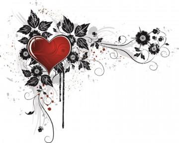 Autocolante para Portátil - Coração com Moldura