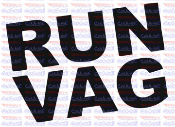 Autocolante - Run Vag.