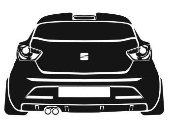 Autocolante - Seat Ibiza 6J - Traseira