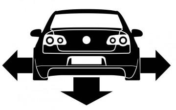 Autocolante - Volkswagen Passat B6 - Traseira (Baixo e Largo)