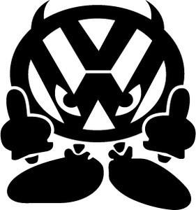 Autocolante - VW - Dedos manguito