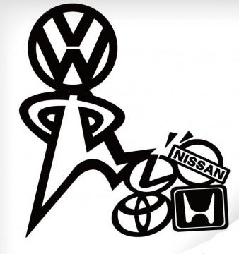 Autocolante - VW Melhor - vencedor
