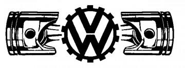 Autocolante - VW Pistão