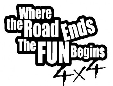 Autocolante - Where the road ends the fun begins - 4x4