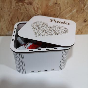 Caixa Para Chocolates / Guarda Joias - Quadrada com cantos arredondados