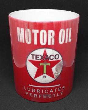 Caneca com Texaco Motor Oil