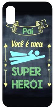 Capa de telemóvel com Pai Você é o meu Super Herói