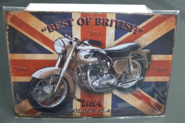 Chapa decorativa com Best of British