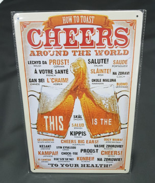 Chapa decorativa com Cheers