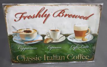 Chapa decorativa com Classic Italian Caffee