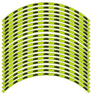 Conjunto de faixas para Jantes - KTM verde