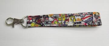 Fita Porta Chaves com Sticker Bomb Padrão 3