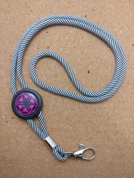 Fita Porta Chaves (lanyard) de Pescoço Ajustável para Yamaha (rosa)