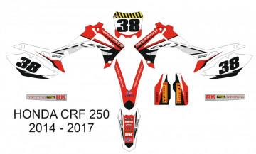 Kit Autocolantes Para HONDA CRF 250 14-17