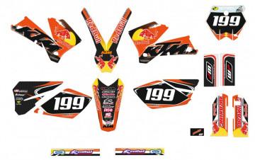 Kit Autocolantes Para KTM  EXC XC XCF 05-07