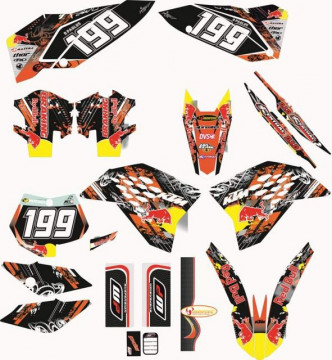 Kit Autocolantes Para Moto - KTM SX / MX 07-10