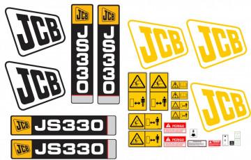Kit de Autocolantes para JCB JS330