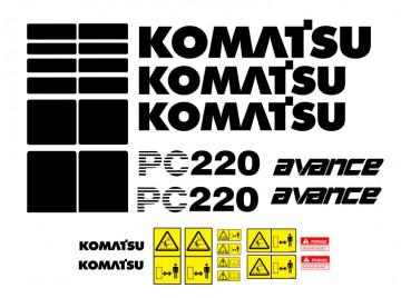 Kit de Autocolantes para KOMATSU PC220 Avance