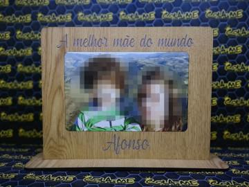 Moldura em MDF - A Melhor Mãe do Mundo - Com foto impressa na madeira