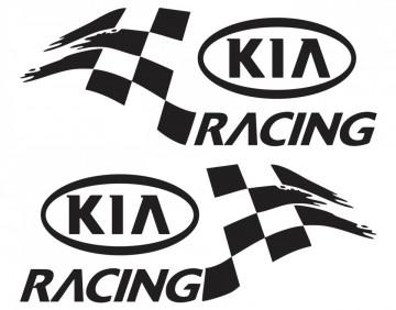 Par de autocolantes para Kia Racing