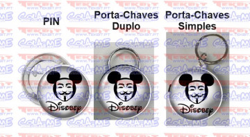Pin / Porta Chaves - Disobey