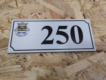 Placa alumínio - Freguesia + Número de Porta