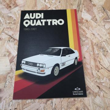 Placa Decorativa em PVC - Audi Quattro