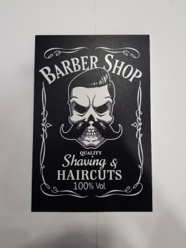 Placa Decorativa em PVC - Barber Shop
