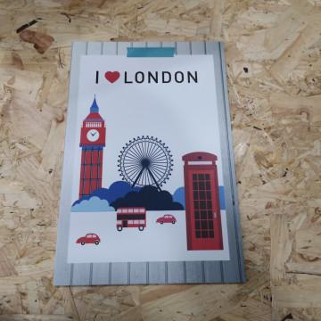 Placa Decorativa em PVC - I love London
