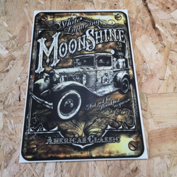 Placa Decorativa em PVC - Moon Shine American Classic