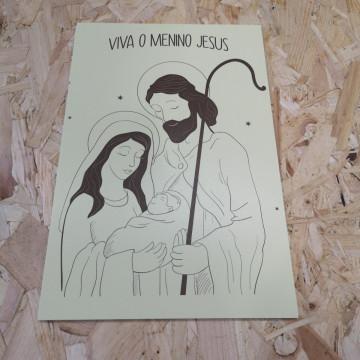 Placa Decorativa em PVC - Viva O Menino Jesus