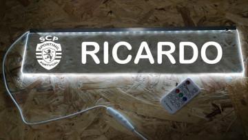 Placa Iluminada (RGB) com Comando | SCP + Nome