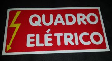 Placa PVC - Quadro Eléctrico